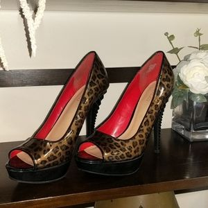 Cheetah Studded High Heels
